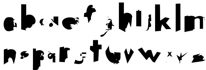 Getaway Schriftart Kleinbuchstaben