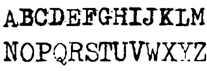 GF Halda Smashed Font UPPERCASE