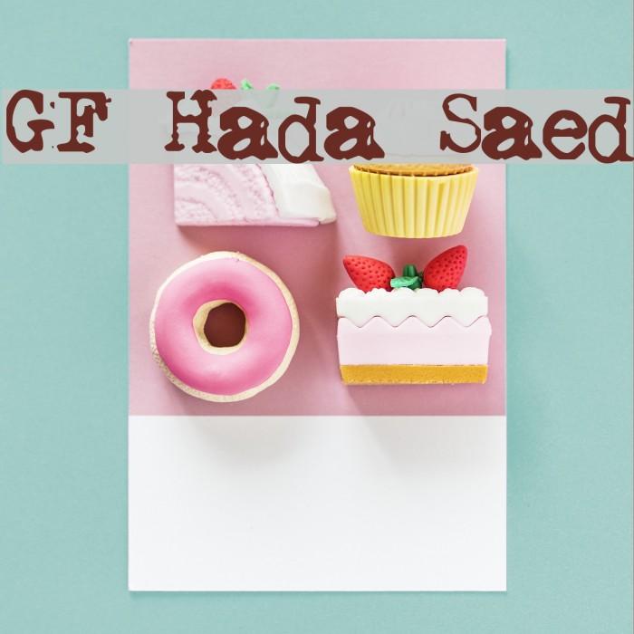 GF Halda Smashed Font