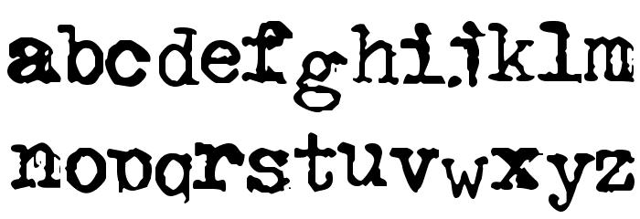 GF Halda Smashed Font LOWERCASE