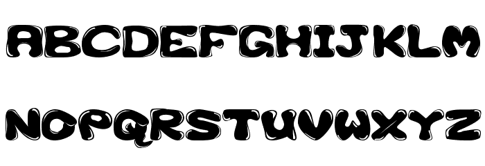 GFS-Custom Bubble 1 Font UPPERCASE