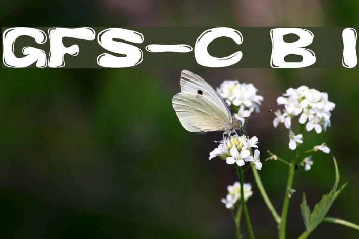 GFS-Custom Bubble 1 Font examples