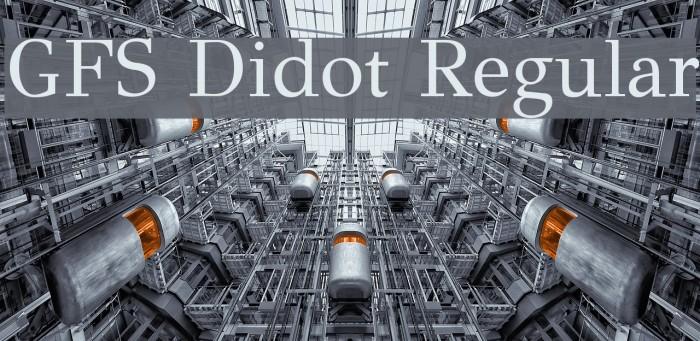 GFS Didot Regular Font examples