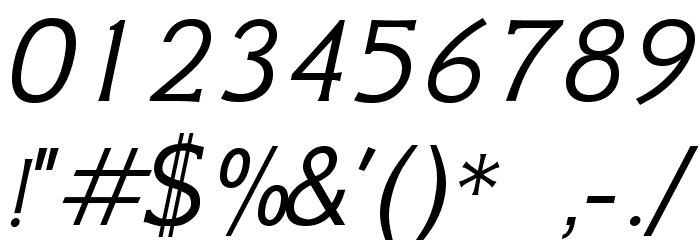 GFSNeohellenic-Italic Caratteri ALTRI CARATTERI