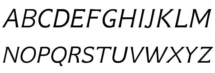 GFSNeohellenic-Italic Caratteri MAIUSCOLE