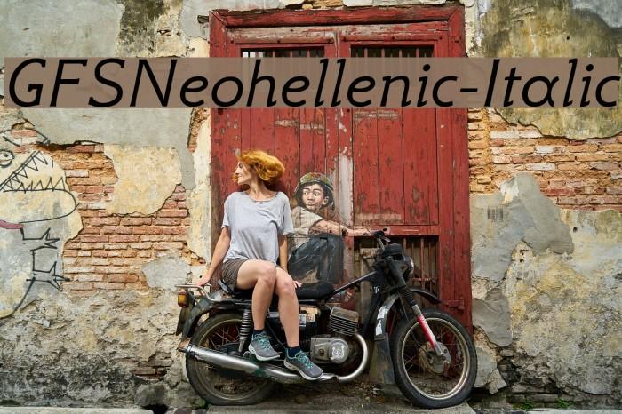 GFSNeohellenic-Italic Caratteri examples
