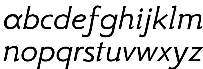 GFSNeohellenic-Italic Caratteri MINUSCOLO