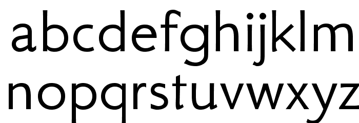 GFSNeohellenic-Regular Font LOWERCASE