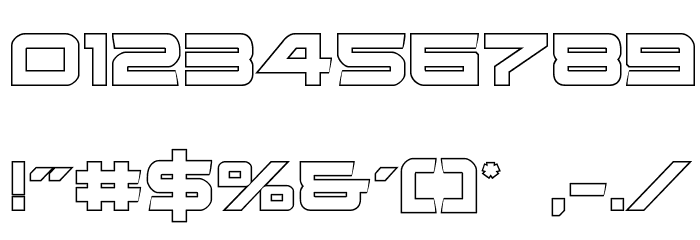 Ghost Clan Outline Regular Font OTHER CHARS