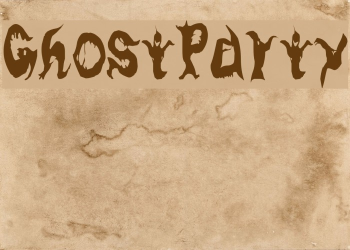 GhostParty Fonte examples