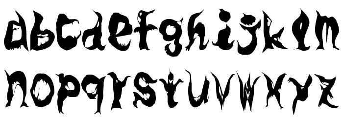 GhostParty Schriftart Kleinbuchstaben