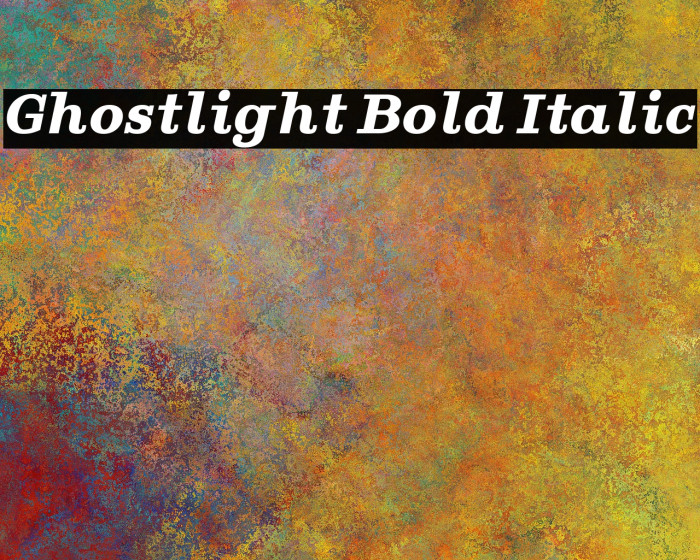 Ghostlight Bold Italic Font examples