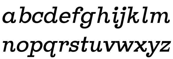 Ghostlight Light Italic फ़ॉन्ट लोअरकेस