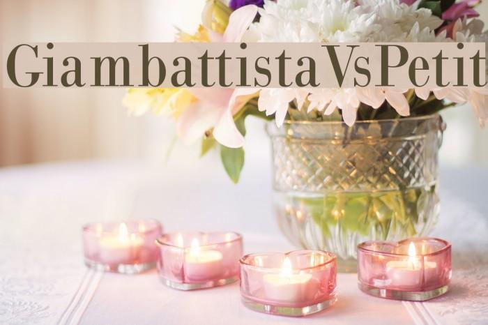 GiambattistaVsPetit Font examples
