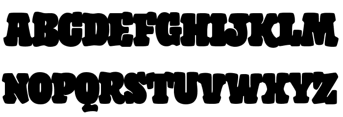 Giant Head Font UPPERCASE