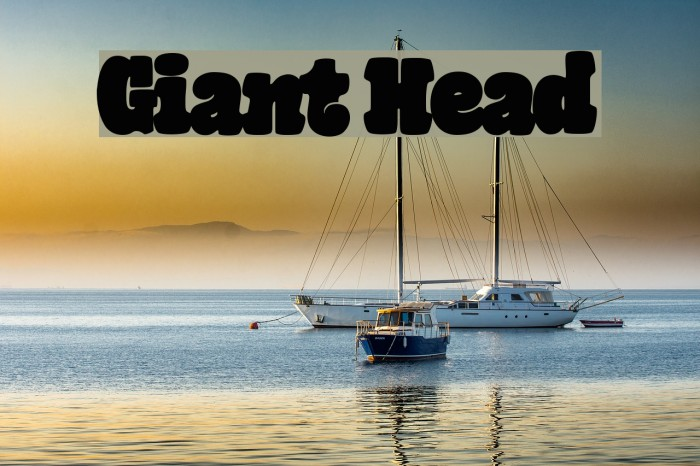 Giant Head Font examples