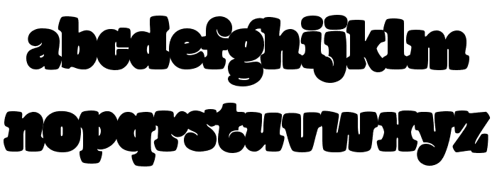 Giant Head Font LOWERCASE