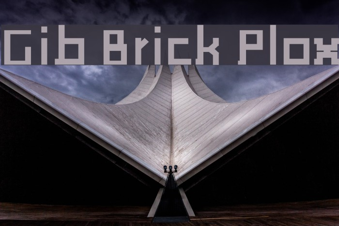Gib Brick Plox Schriftart examples
