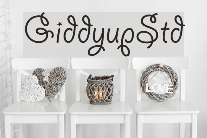 GiddyupStd फ़ॉन्ट examples