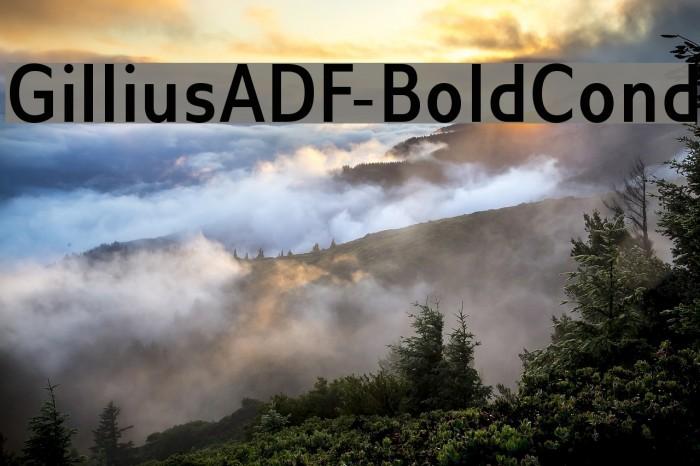 GilliusADF-BoldCond Font examples