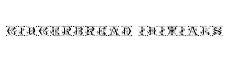 Gingerbread Initials  les polices de caractères gratuit télécharger