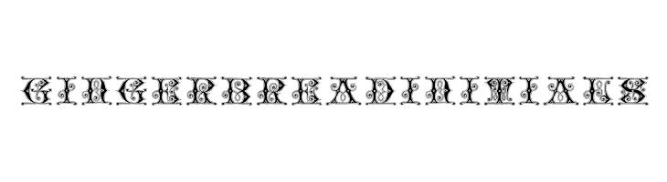 GingerbreadInitials  les polices de caractères gratuit télécharger