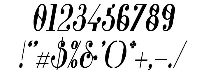 Glamor-BoldCondensedItalic Font OTHER CHARS