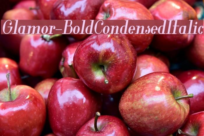Glamor-BoldCondensedItalic Font examples