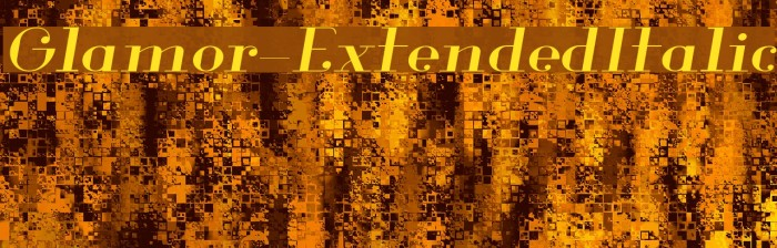 Glamor-ExtendedItalic Fuentes examples