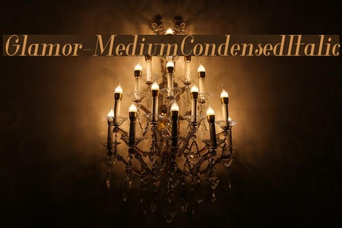 Glamor-MediumCondensedItalic Fuentes examples