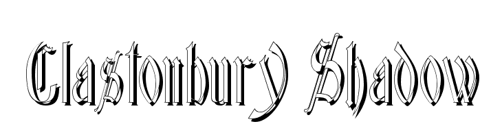 Glastonbury Shadow  Free Fonts Download