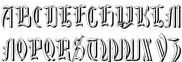 Glastonbury Shadow Font UPPERCASE