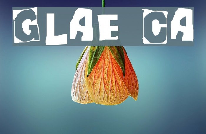 Glaze Caps फ़ॉन्ट examples