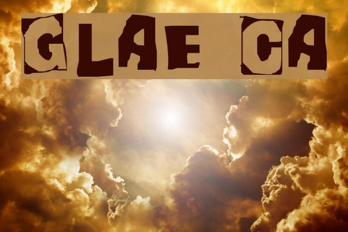 Glaze Caps Font examples