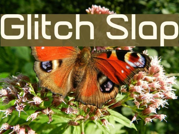 Glitch Slap Font examples