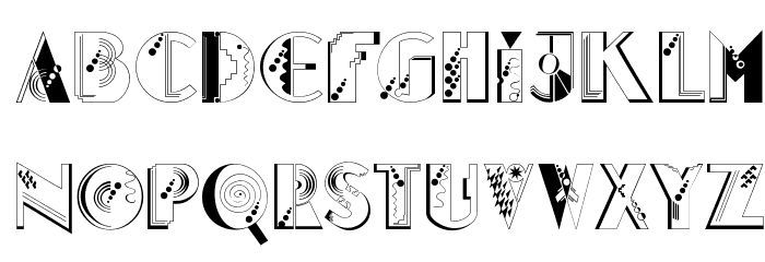 Glitter Font UPPERCASE