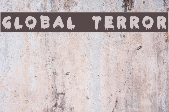 Global Terror フォント examples