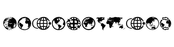 Globe Icons Font - free fonts download