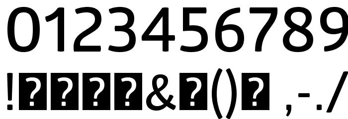 GloberSemiBoldFree Font OTHER CHARS