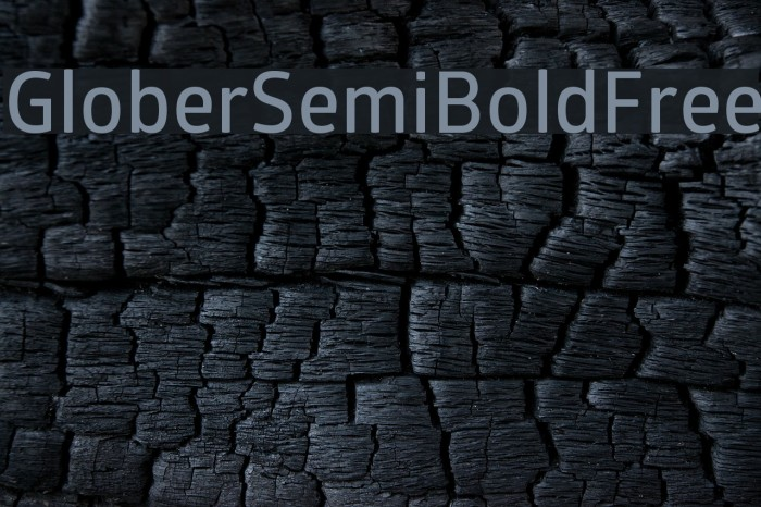 GloberSemiBoldFree Font examples