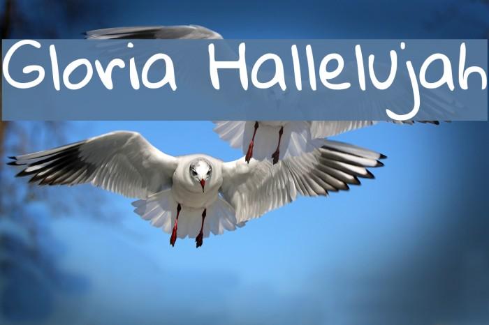 Gloria Hallelujah Font examples