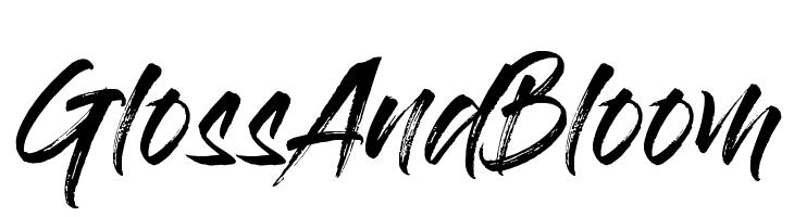 GlossAndBloom  Скачать бесплатные шрифты