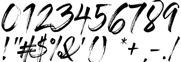 GlossAndBloom Шрифта ДРУГИЕ символов