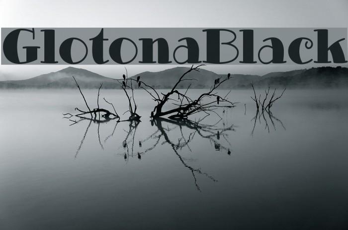 GlotonaBlack Font examples
