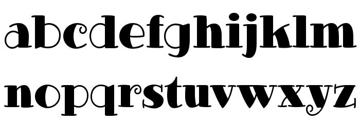 GlotonaBlack Font LOWERCASE