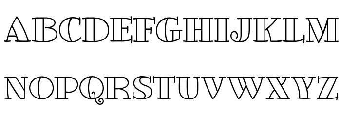 GlotonaWhite Font UPPERCASE