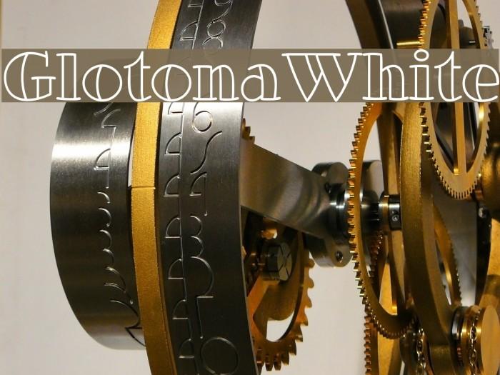 GlotonaWhite Font examples