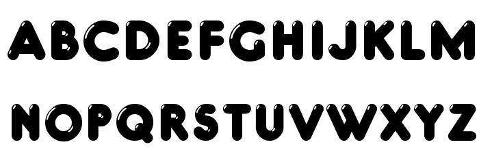 Glowworm Font UPPERCASE