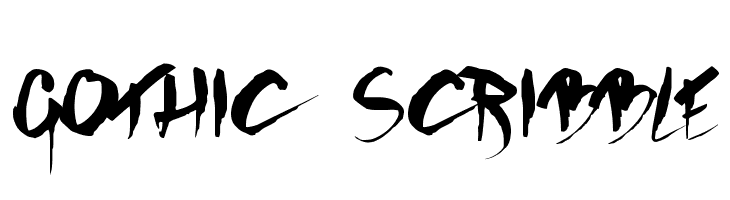 GOTHIC SCRIBBLE Font