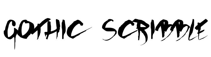 GOTHIC SCRIBBLE  フリーフォントのダウンロード